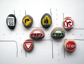 Reciclatex Cómo hacer un juego de educación vial con piedras