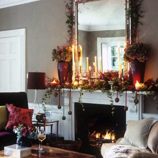 Fireplace decorating for christmas part 1 - Chimeneas para interiores ...