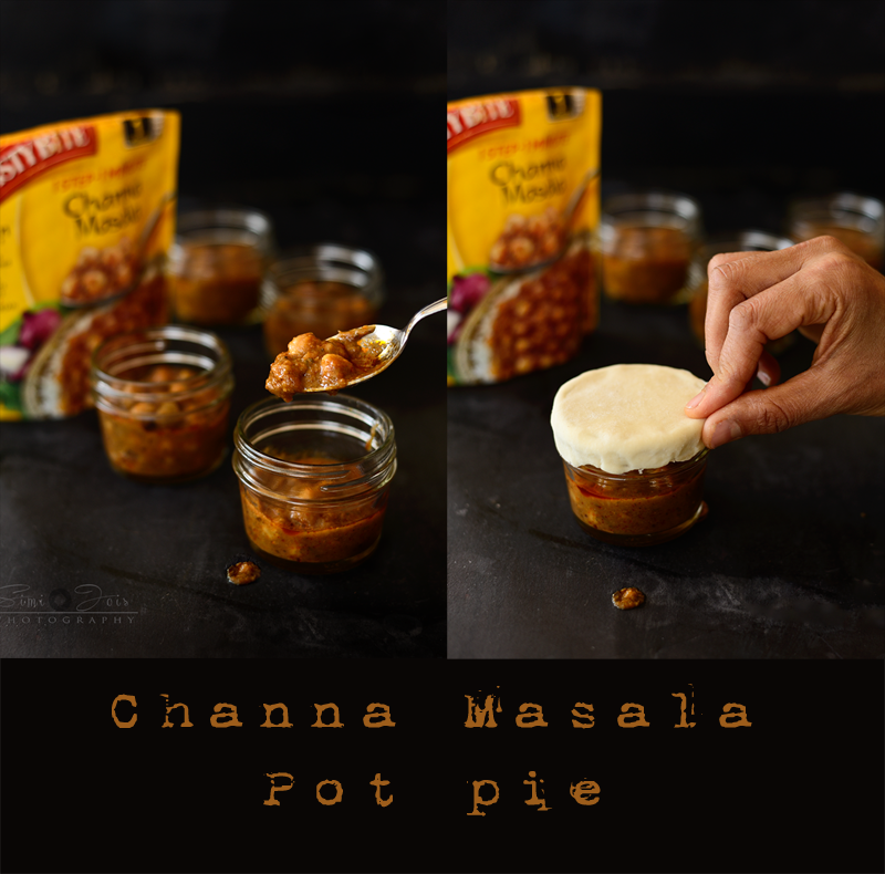 Channa-Masala, Potpies, vegetarian, Quick-recipe Channa-Pot pies, Photography, SimiJois