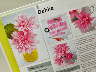 how to crepe paper dahlia