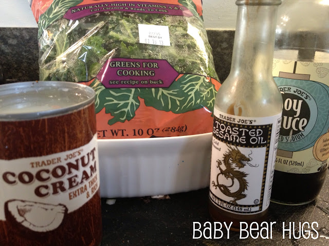 ingredients for coconut kale rice