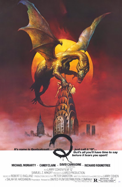 Q: The Winged Serpent poster illustrated by Boris Vallejo