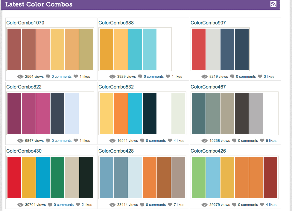 life in color color combinations a site for color nerds