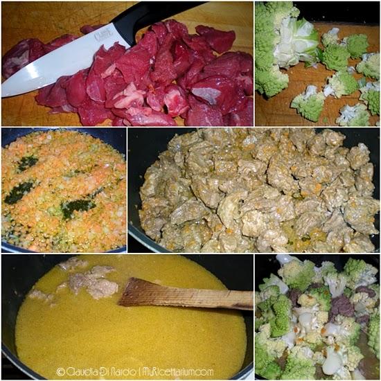 Spezzatino di manzo con broccolo romano