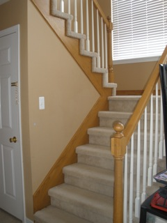 The Yellow Cape Cod Staircase MakeoverBefore And After
