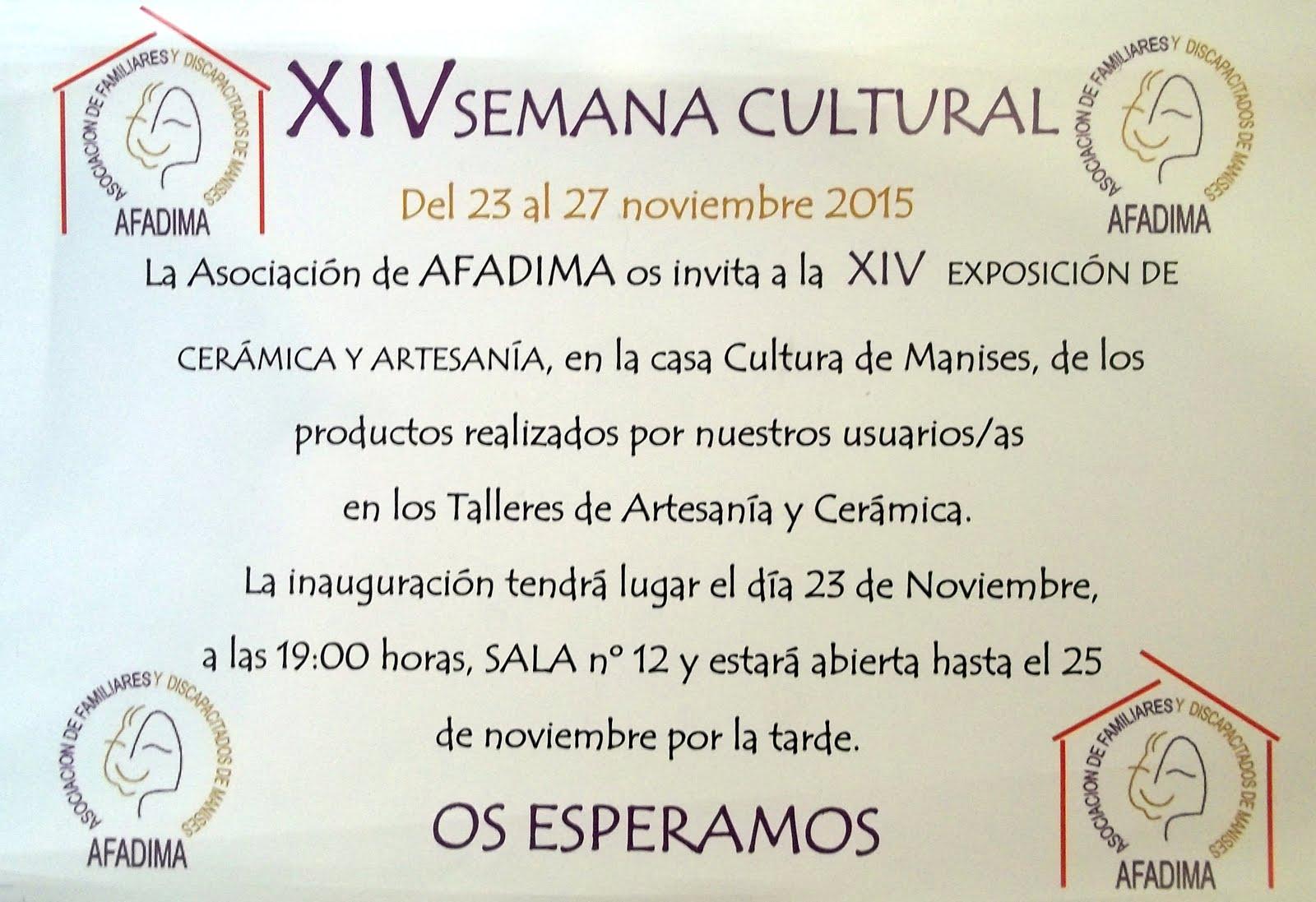 23.11.15 AFADIMA, EXPOSICIÓN EN LA CASA DE CULTURA DE MANISES
