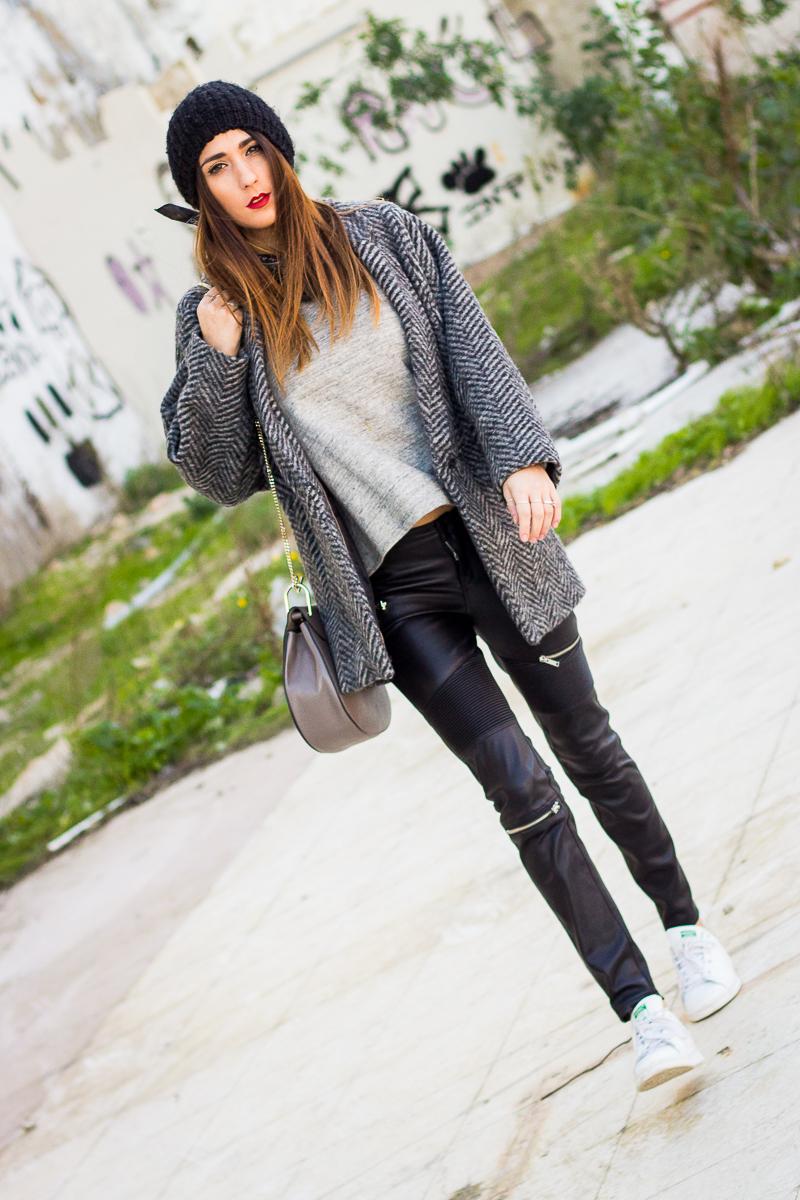 wearing beanie