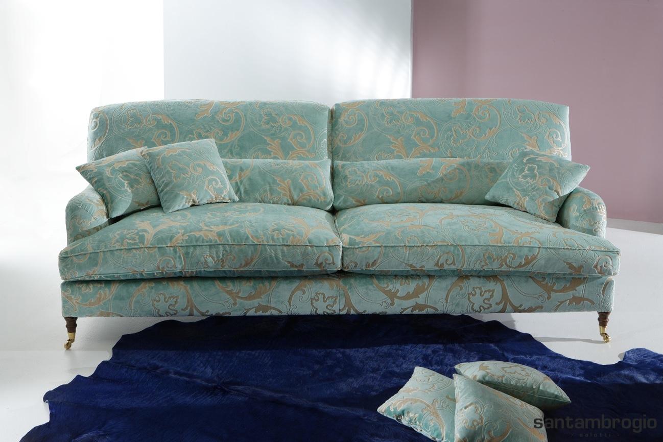 Santambrogio salotti produzione e vendita di divani e letti anche su misura i divani - Divano classico in pelle ...