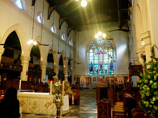 Interior of St John's Cathedral, Central, Hong Kong