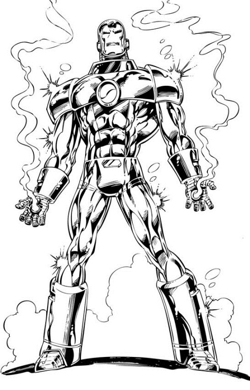 a desenhar Homem De Ferro colorir
