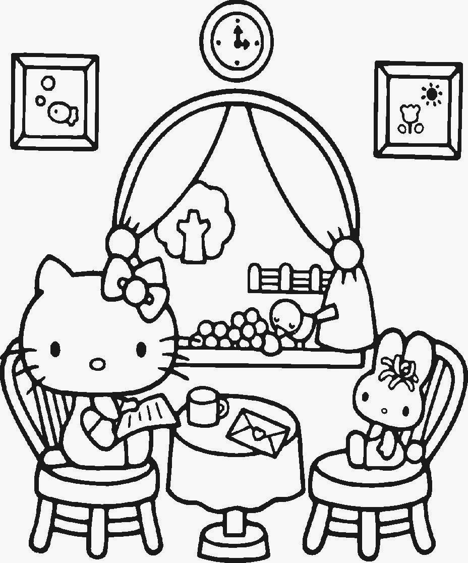 Hello Kitty Basketball Coloring Pages