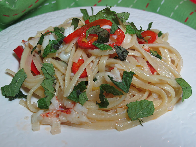 Linguine withLobster, Lemon, Chile and Mint – adapted from the Bon ...