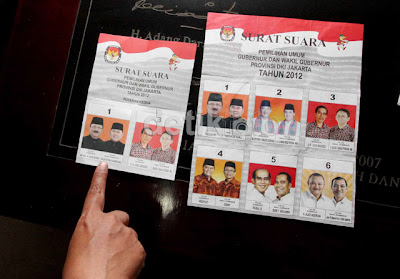 Kertas Suara dan Jadwal Pilkada Jakarta Putaran Kedua