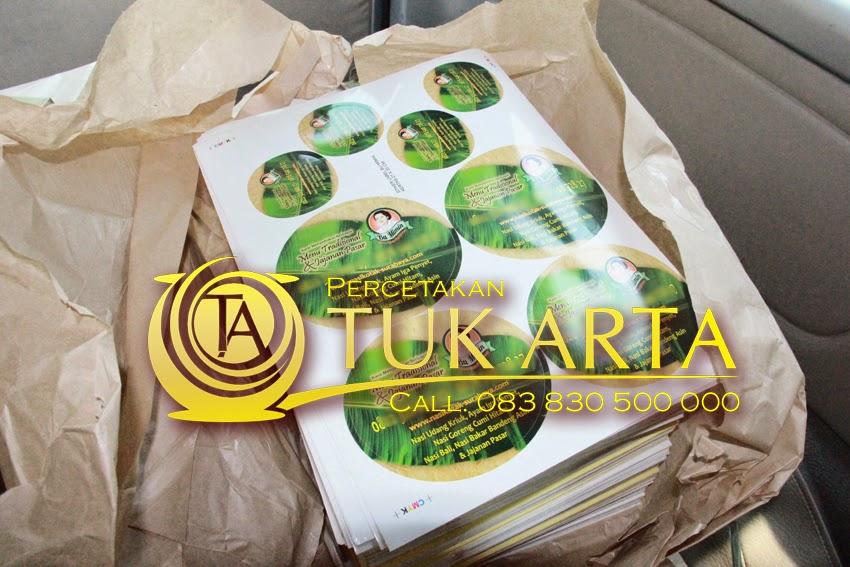 cetak stiker Vinyl makanan
