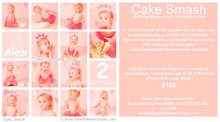 Cake smash baby portraits. Scottish professional photographers