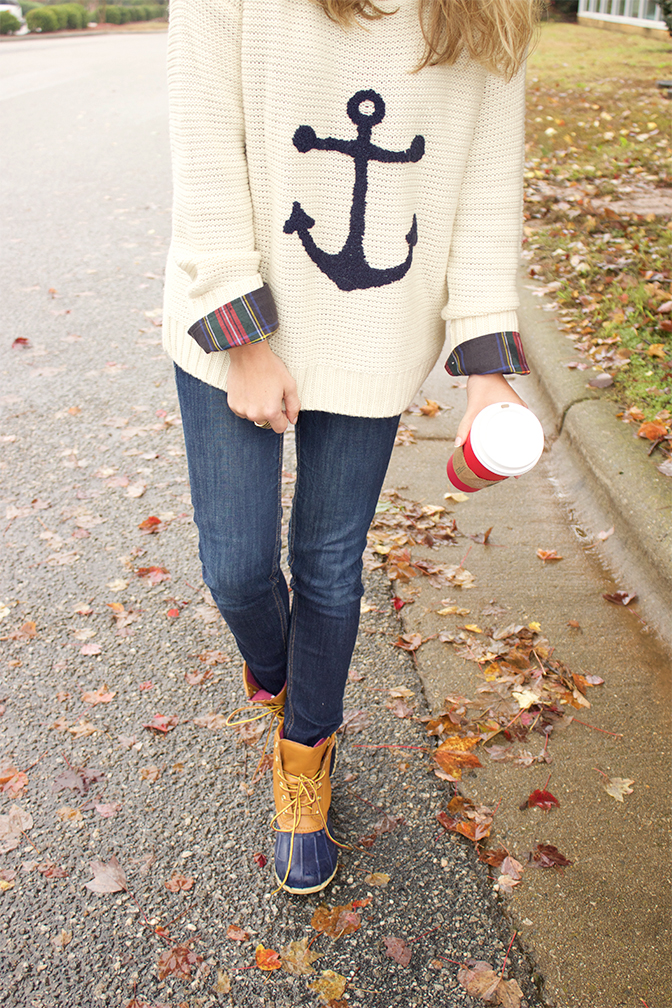 knit-anchor-sweater-and-cheap-duck-boots