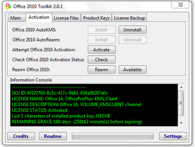 activator office 2010 home and student toolkit