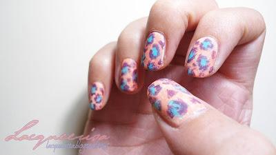 NOTD  - Leopard Nails