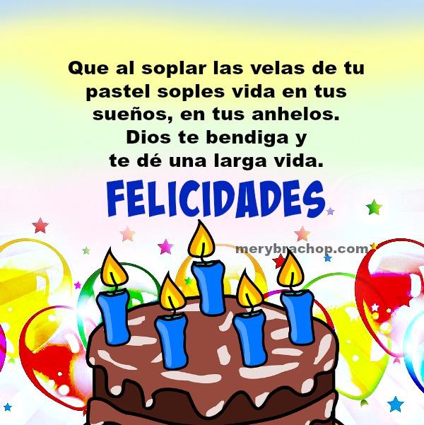 Frases de cumpleaños, palabras para bendecir amigos y familia con un corto mensaje critiano de