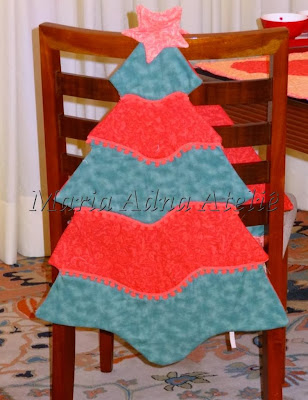 Natal, Revista Ateliê na TV, patchwork, apliquê, capas cadeiras, almofadas