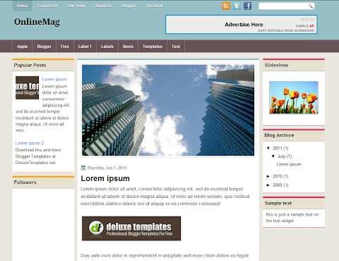 OnlineMag Blogger Theme