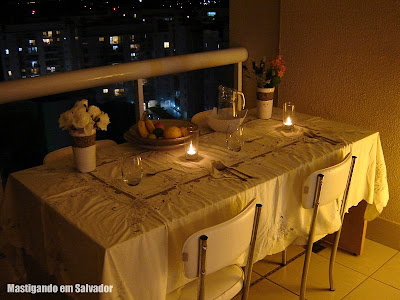 Ivano Bragonzi - Personal Chef: Mesa preparada para o jantar