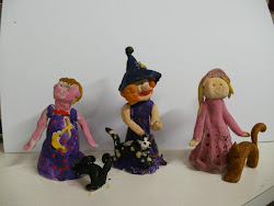 Bruja y Princesas con gatos
