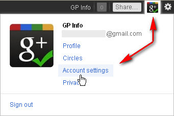 Google+ Account settings