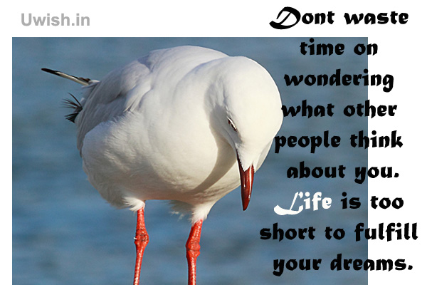 Fulfill your dreams. Motivational and inspirational quotes on time e greeting cards and wishes