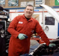Mike Nash, NMV Service, Mechanic in workshop