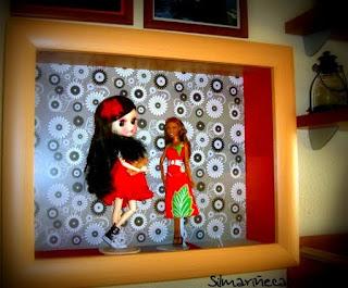vitrina del lidl para tangkou doll y barbie-