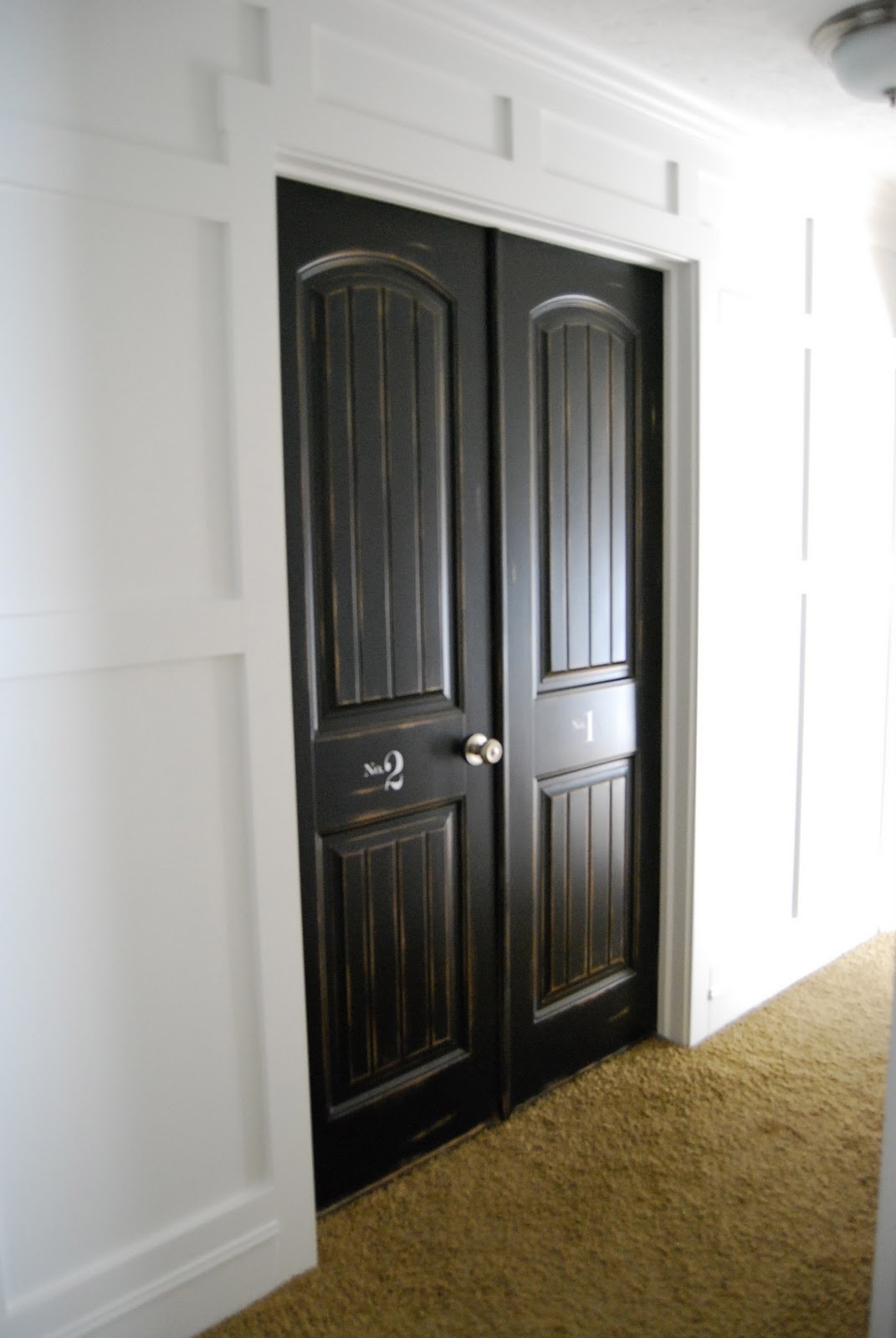 Home by heidi iphone hall and door finishing touches - Sophisticated black interior doors ...