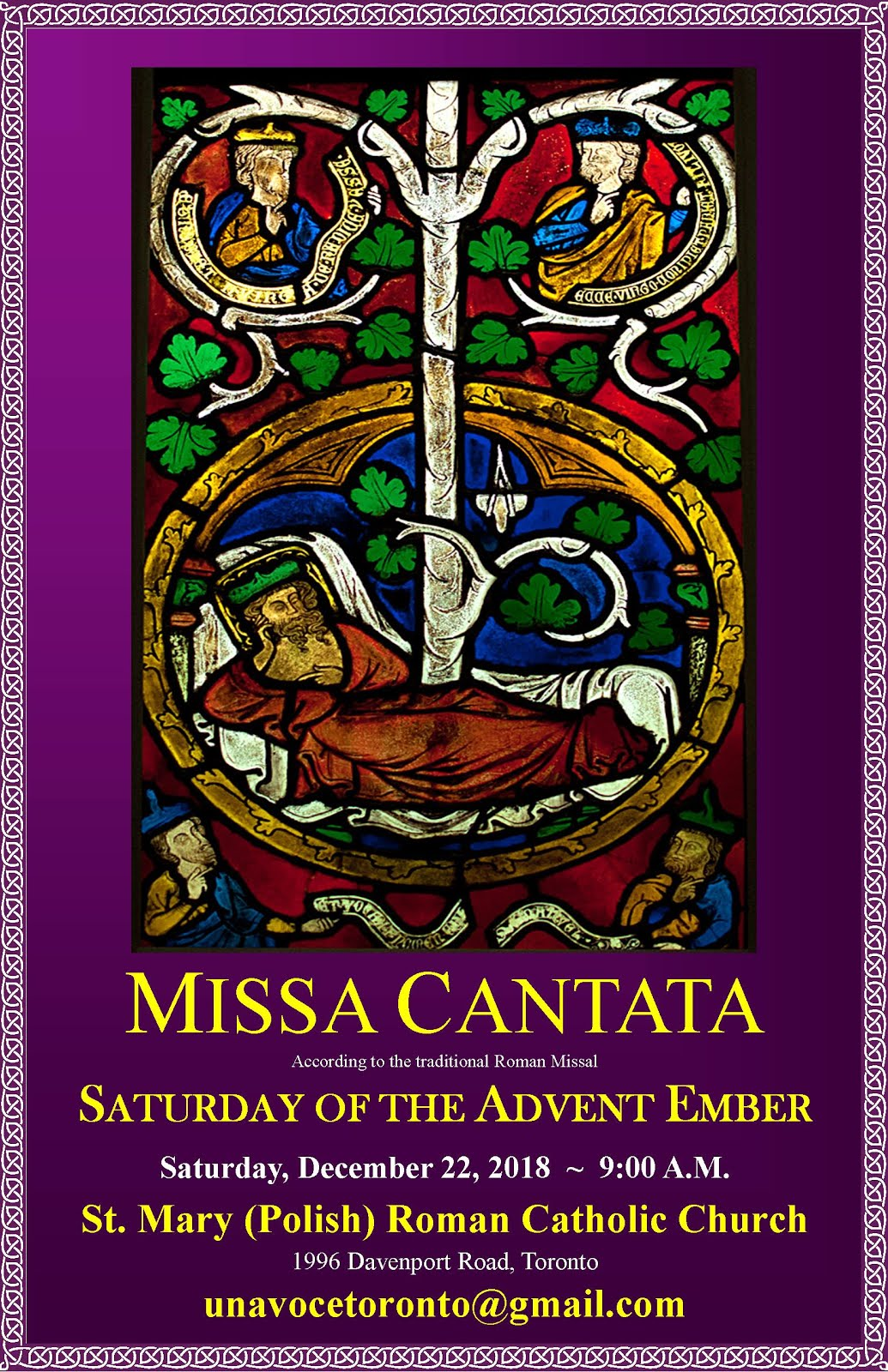 Sung Ember Saturday Latin Mass in Toronto