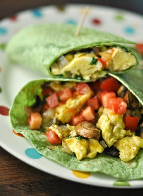 Egg and Veggie Breakfast Burrito