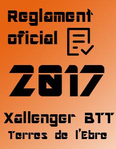 Reglament Oficial Xallenger Terres de l'Ebre 2017