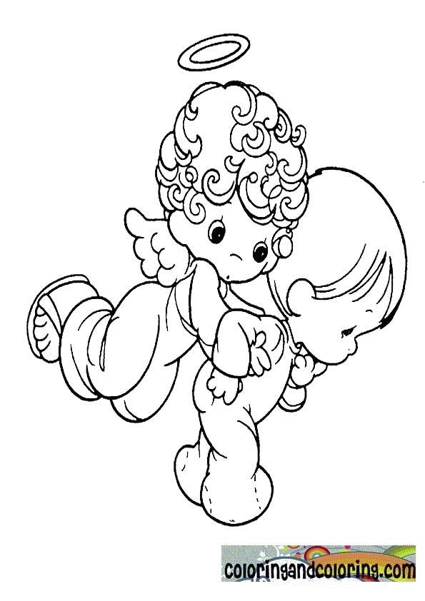 Precious moments angels coloring pages coloring pages for Precious moments angel coloring pages