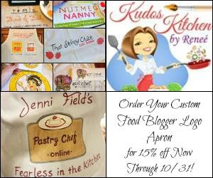Custom Food Blogger Logo Aprons