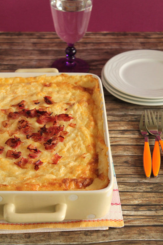 Mashed-potatoes-cream-cheese-sour-cream-cheddar-bacon-gratin