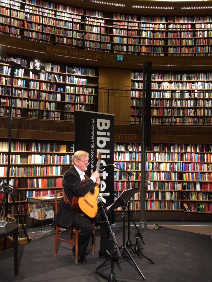 Ulf Bagge på Stockholms stadsbibliotek.