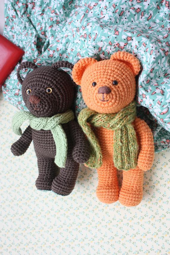 Happyamigurumi: New crocheted amigurumiTeddy Bears