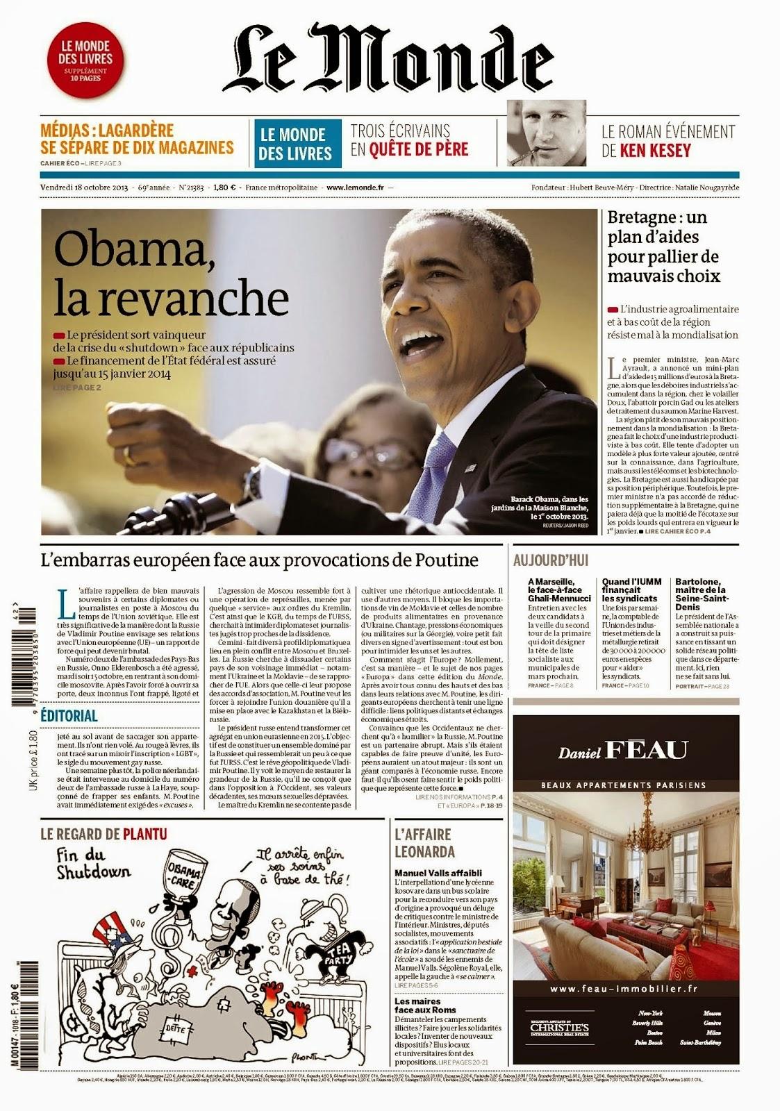 Au paris journal d couvrir paris - Le journal de francois ...