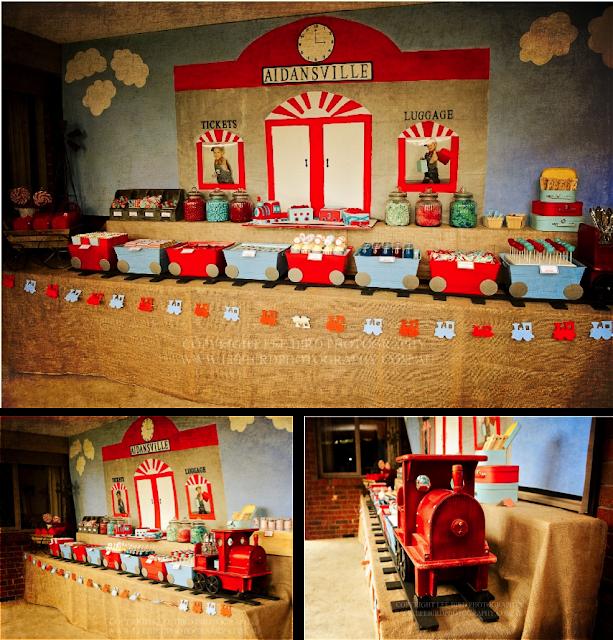 Fiesta temática trenes