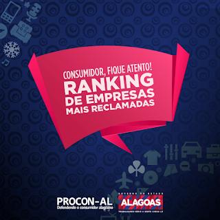 Procon-AL divulga ranking de empresas mais reclamadas no Estado