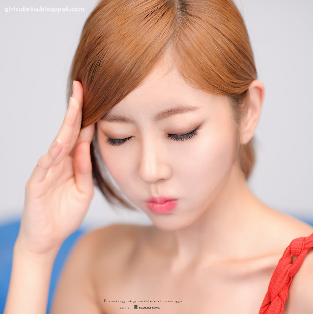 Choi-Byul-I-One-Shoulder-Red-Dress-07-very cute asian girl-girlcute4u.blogspot.com