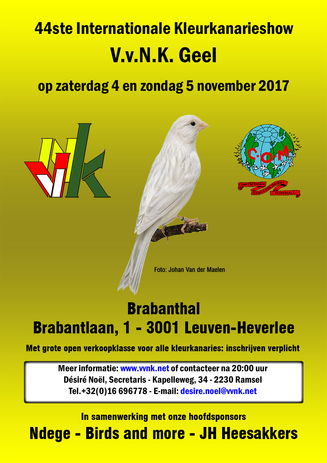 Internationale VVNK show 3/4-11-2018