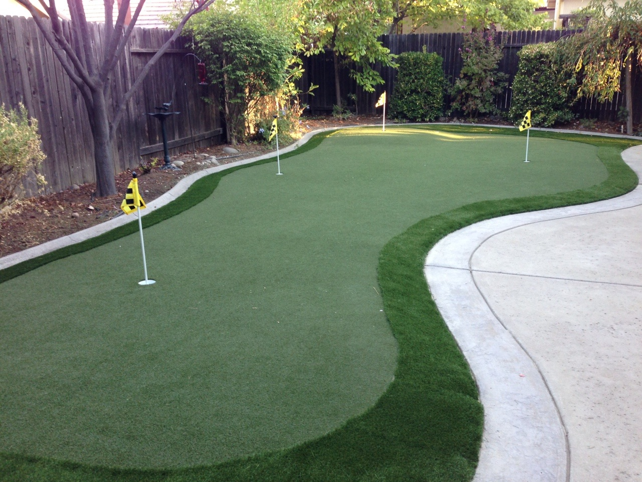How To Build A Putting Green In My Backyard my d.i.y. putting green experience