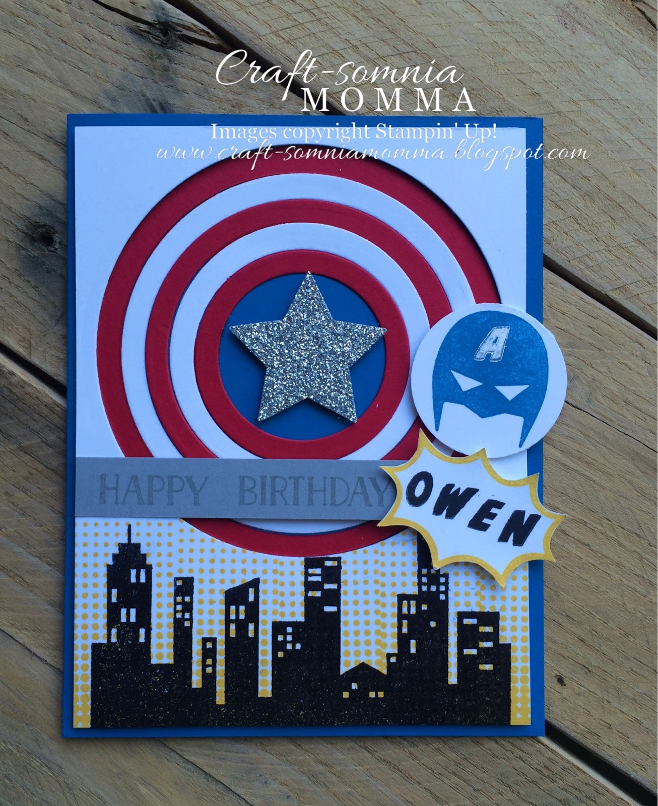 Craft somnia momma a super hero 4th birthday owen is all about super heros these days so i just had to make him a captain america his favorite birthday card bookmarktalkfo Image collections