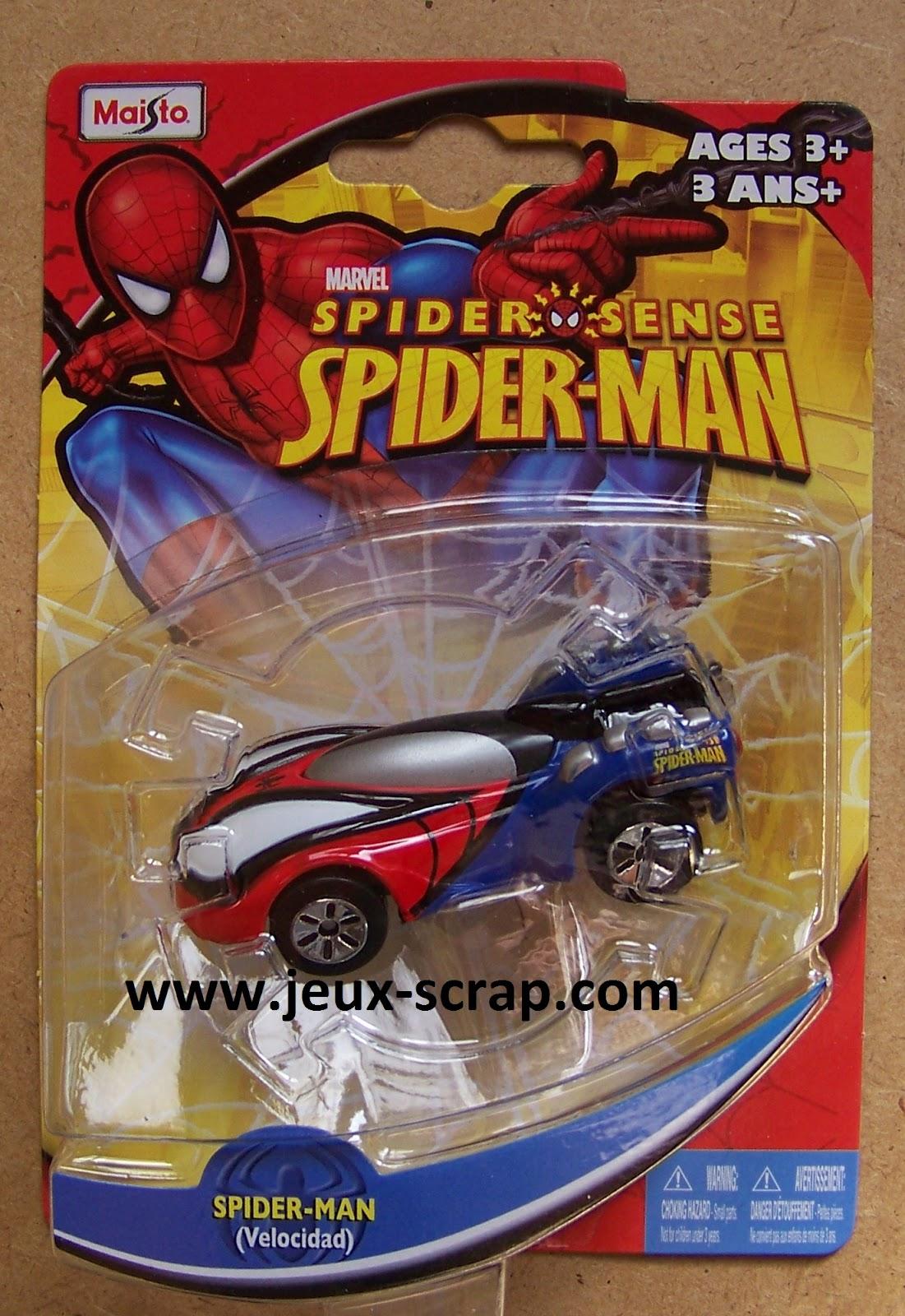 Blog boutique jouets jeux scrap voiture spiderman - Jeux de spiderman voiture ...