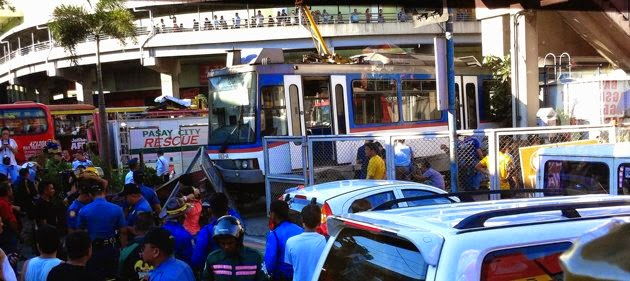 MRT Train Derailed, train accident Philippines