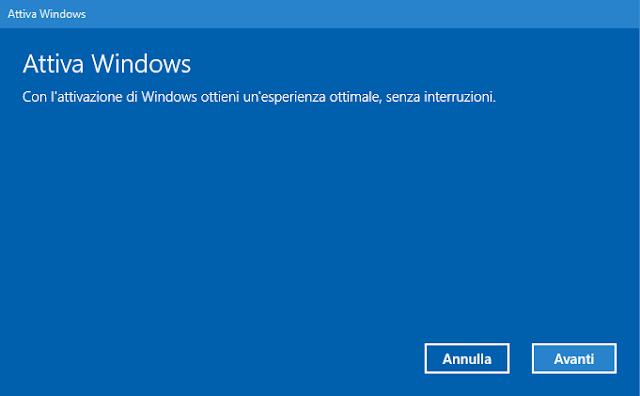 Windows 10 Attiva Windows